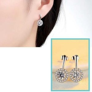 Jewelry - NEW 18k white gold plated stud earrings